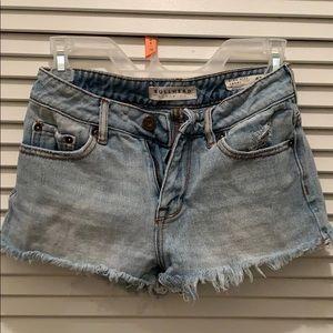 Bullhead High Rise Denim Shorts